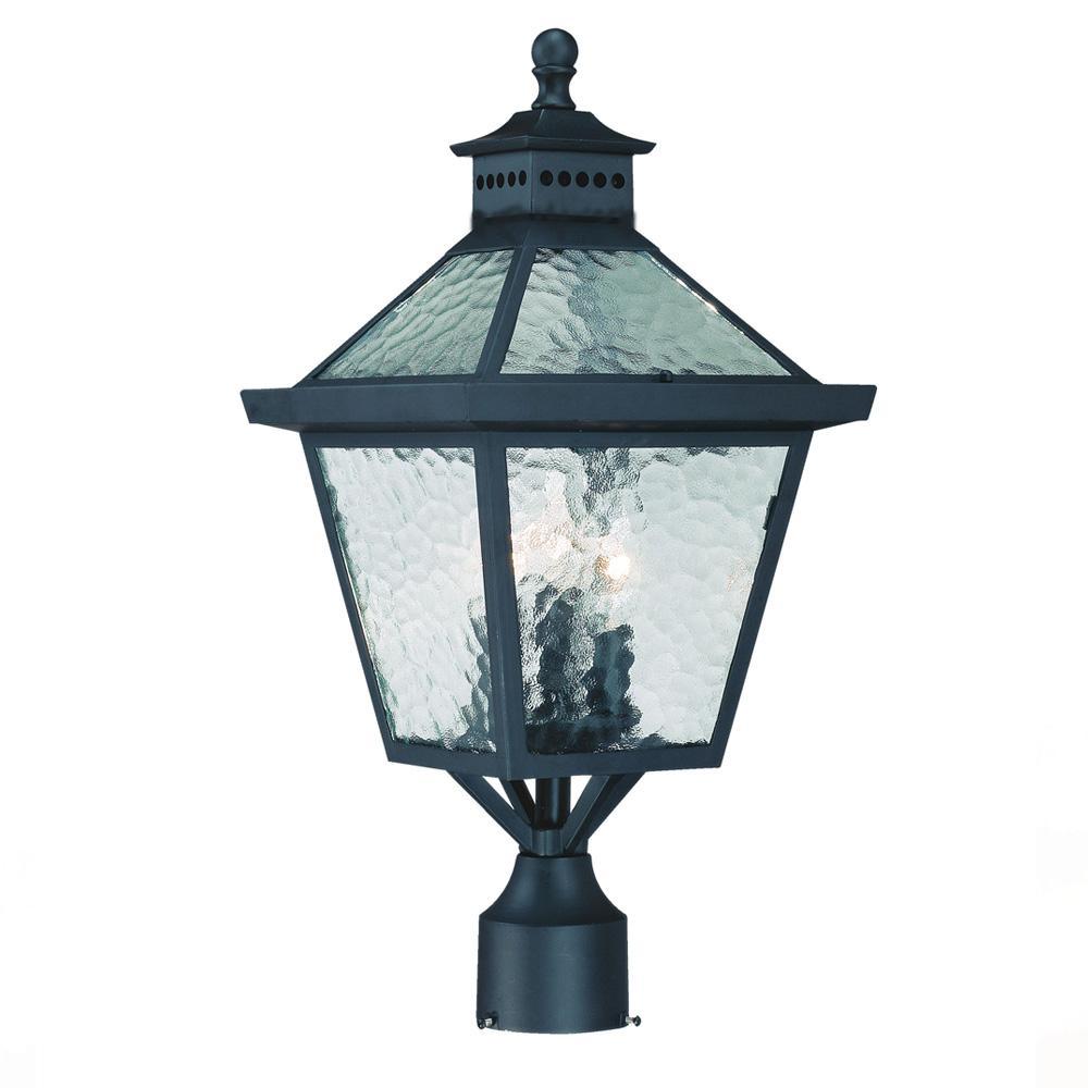 Matte Black Acclaim 7662BK Bay Street Collection 2-Light Wall Mount Outdoor Light Fixture